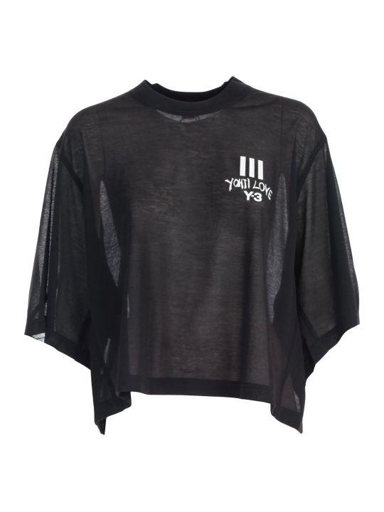 Y-3 Yohji Yamamoto Adidas Oversize Crop Top