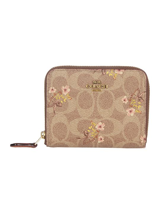 Coach Floral Print Continental Wallet