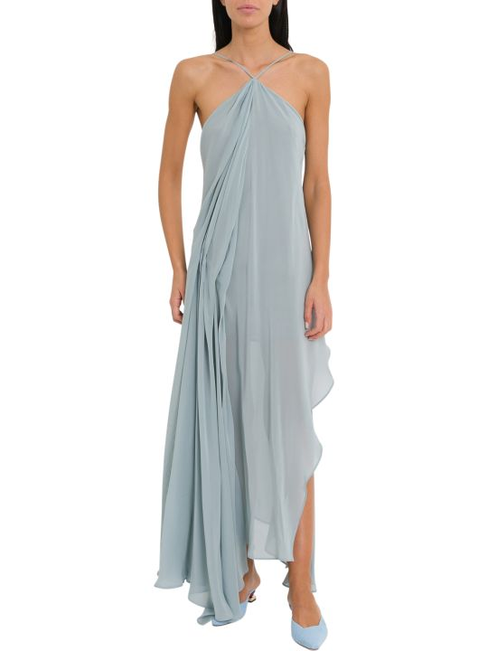 Jacquemus Long Draped Dress With Corssed Neckline