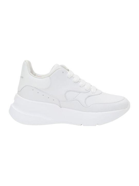 Alexander McQueen White Leather Runner Sneaker