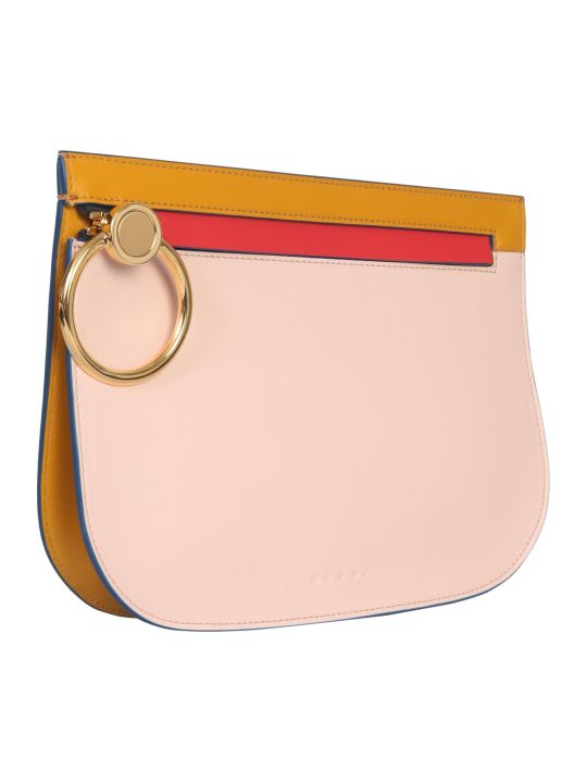 Marni Brushed Leather Clutch