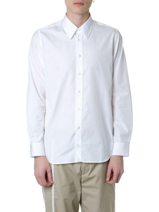 Helmut Lang White Cotton Poplin Shirt With Logo