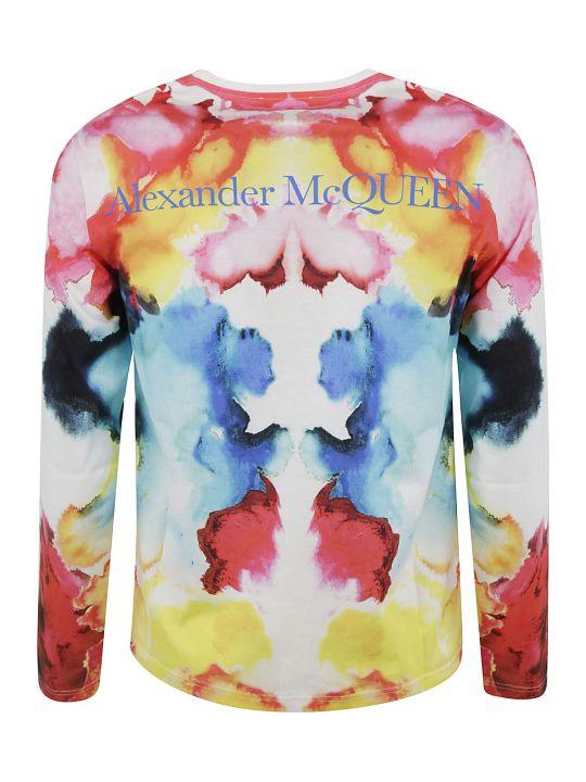 Alexander McQueen Long-sleeved Back Logo T-shirt