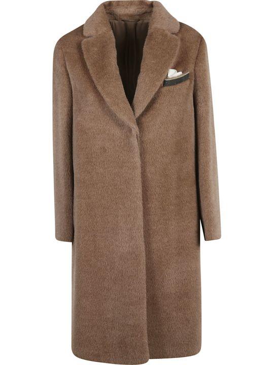 Brunello Cucinelli Concealed Long Open Coat