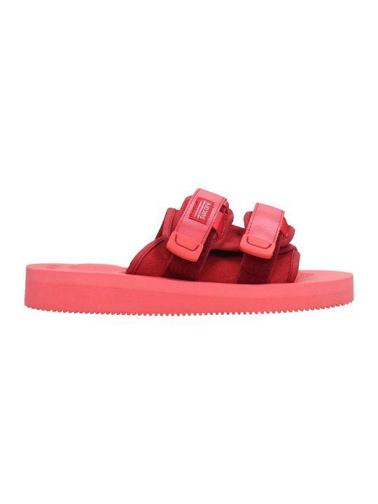 SUICOKE Nylon Moto Red Sandals
