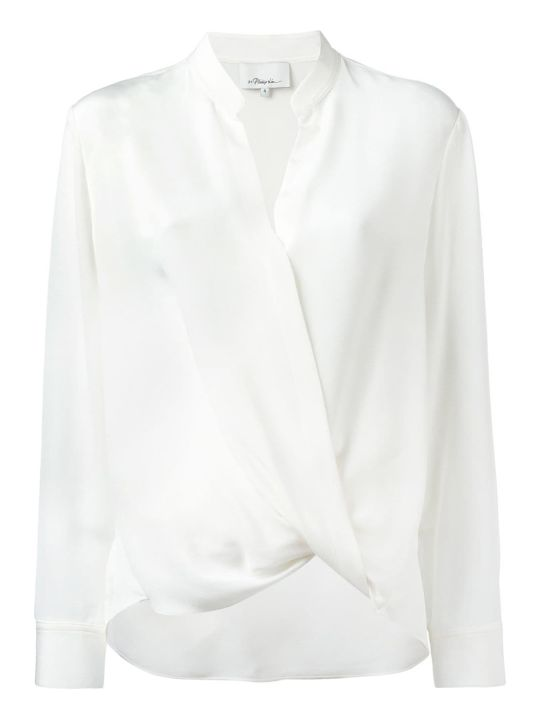 3.1 Phillip Lim Wrap-effect Silk-crepe Shirt