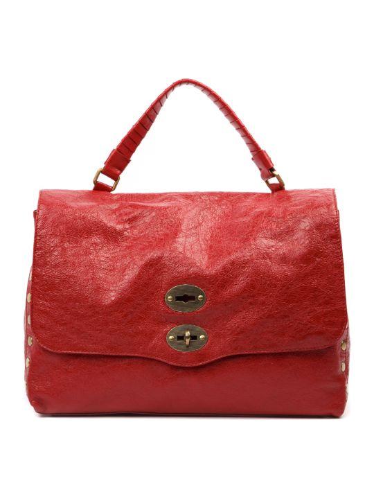 Zanellato Lustro Red Leather Tote Bag