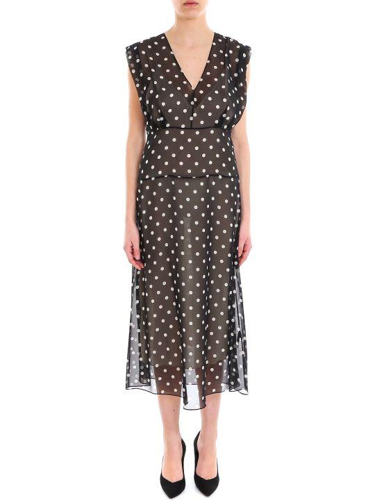 Theory Deep V Easy Midi Dress