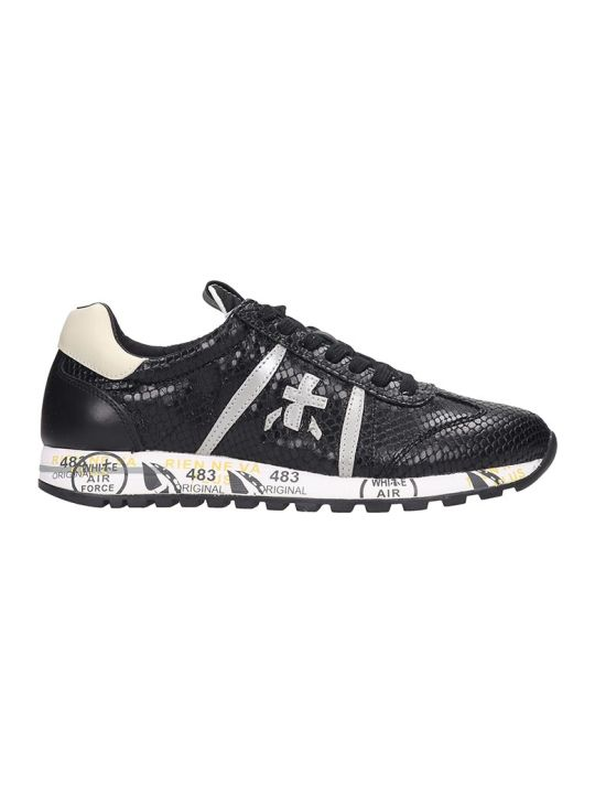 Premiata Lucy  Sneakers In Black Leather