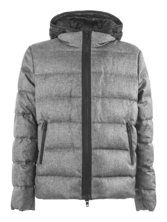 Fay Grey Hooded Down Jacket