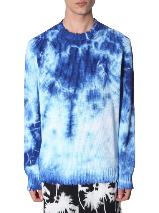 MSGM Tie Dye Cotton Sweater