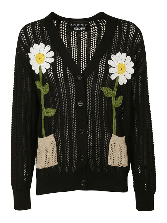 Moschino Flower Knitted Cardigan