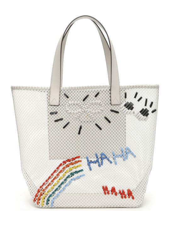 Anya Hindmarch Rainbow Woven Tote Bag