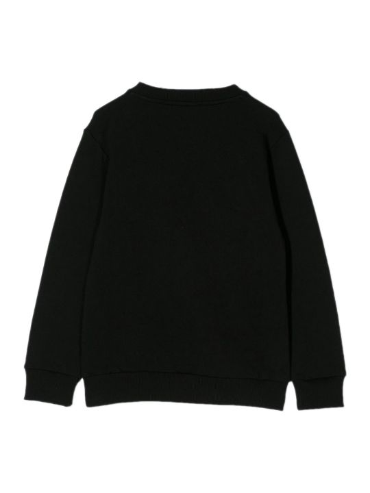 Balmain Black Cotton Logo Print Jumper