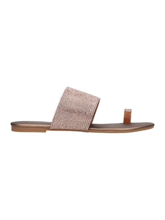 Jeffrey Campbell Jema Flats In Bronze Leather