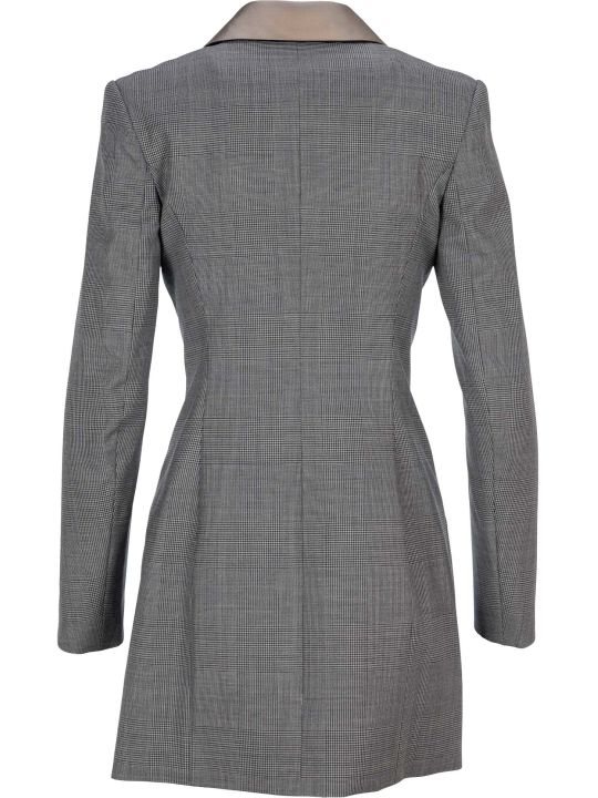 Y/Project Micro Check Blazer Dress
