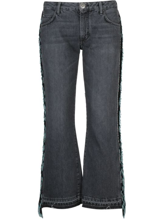 Alanui Embroidered Flared Jeans