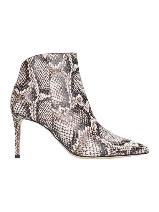 Giuseppe Zanotti Tysha High Heels Ankle Boots In Animalier Leather