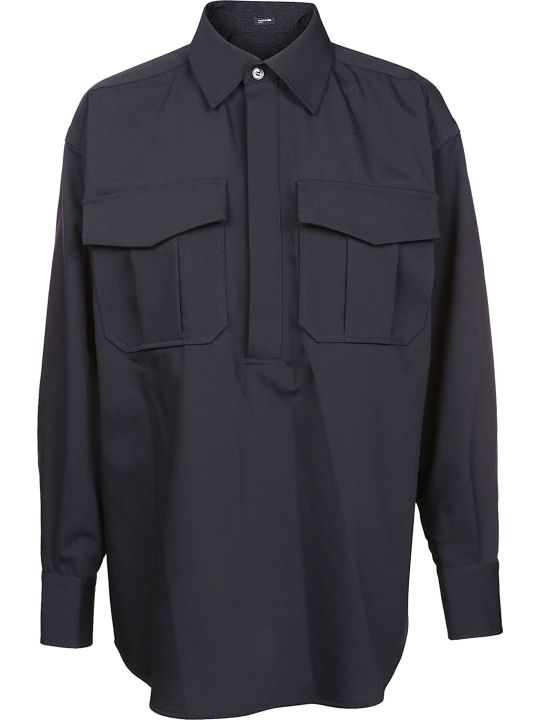 Jil Sander Navy Boxy Pocket Shirt