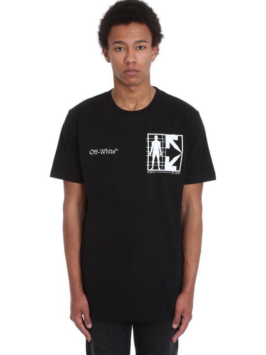 Off-White Half Arrow T-shirt In Black Cotton