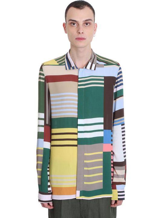 Rick Owens Office Shirt Shirt In Multicolor Viscose