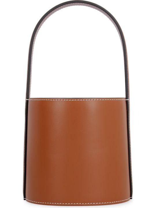 STAUD Mini Bissett Leather Bucket Bag