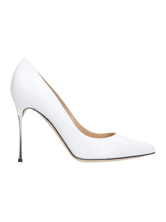 Sergio Rossi Godiva 105 Pumps In White Leather