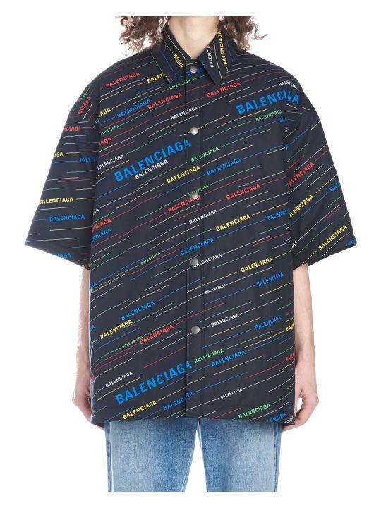 Balenciaga 'stripe Logo' Shirt