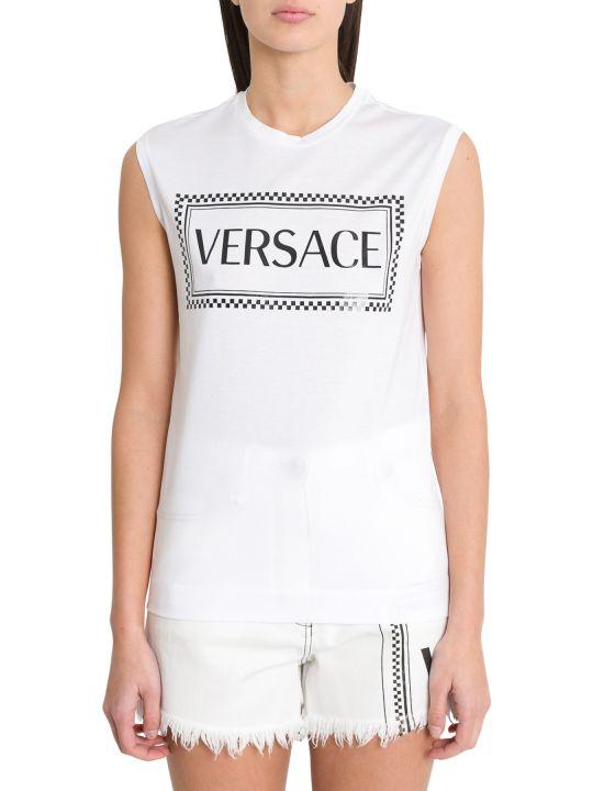 Versace Logo Sleveless Tee
