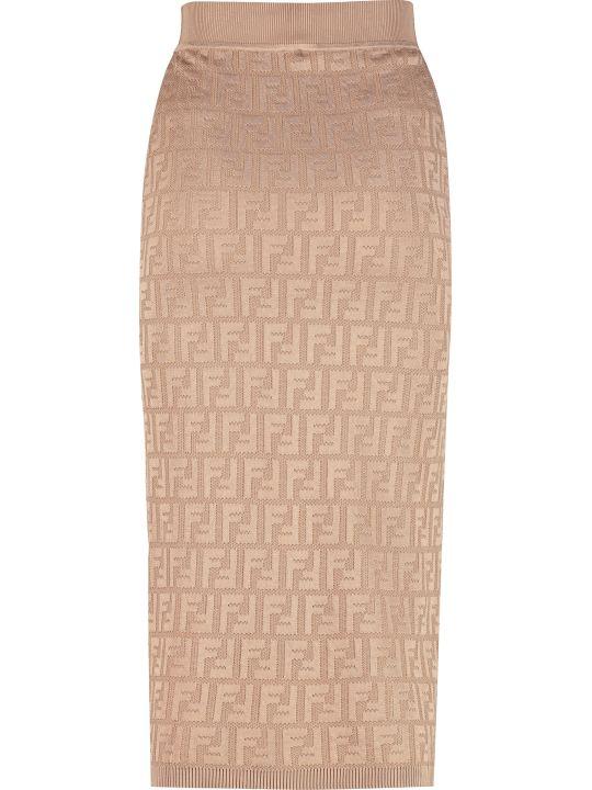 Fendi Jacquard Knit Skirt