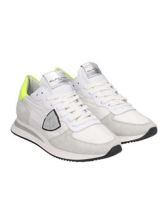 Philippe Model Trpx Sneakers In White Nylon