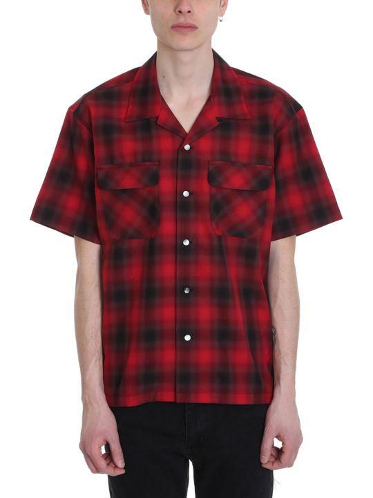 MASTERMIND WORLD Red And Black Tartan Cotton Shirt