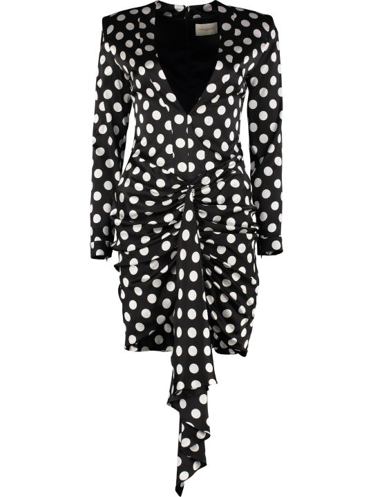 Giuseppe di Morabito Polka-dot Print Silk Mini Dress