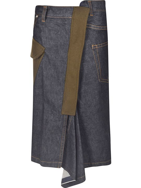 Sacai Denim Wrapped Skirt