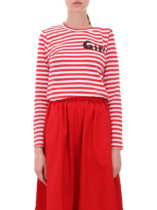 Comme Des Garçons Girl Red And White