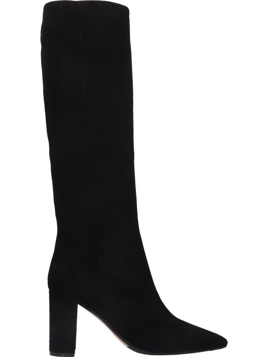 The Seller Boots In Black Suede