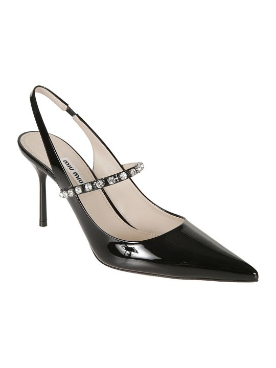 Miu Miu Embellished Ankle Strap Pumps