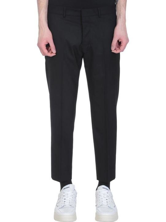 Ami Alexandre Mattiussi Black Wool Cropped Pants