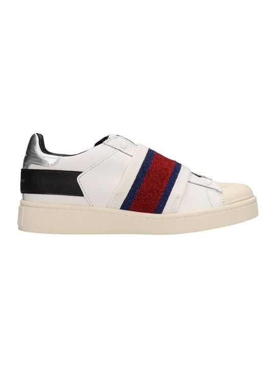 M.O.A. master of arts White Leather Sneakers