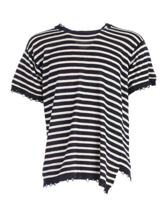 Maison Flaneur Striped Cropped Top