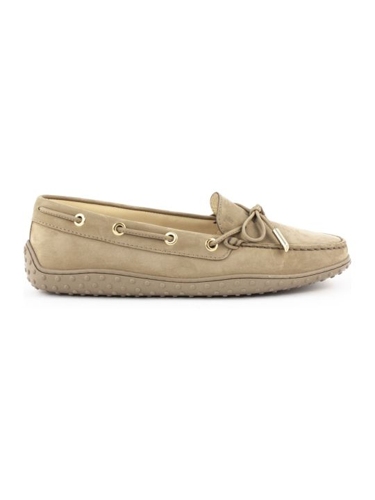 Tod's Loafers In Mud-tone Nubuck