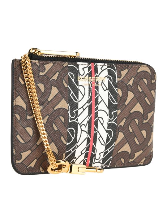 Burberry London Monogram Stripe Zip Coin Case