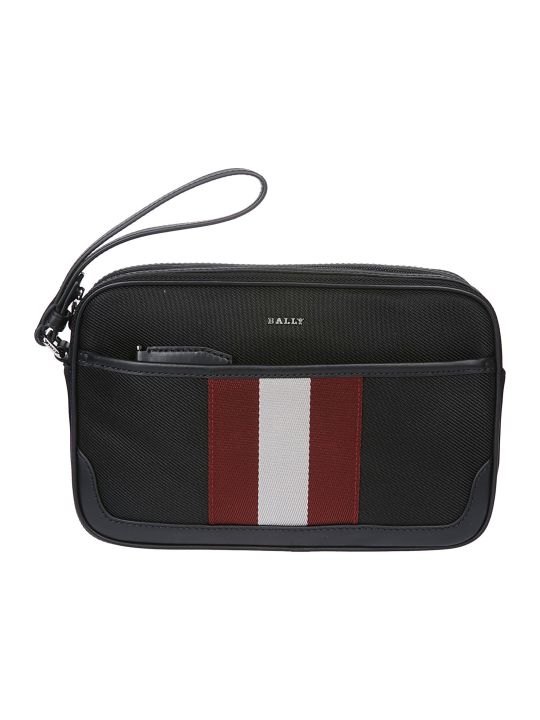 Bally Striped Clutch