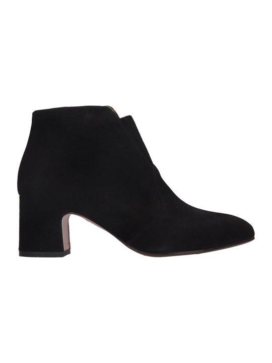 Chie Mihara Naya High Heels Ankle Boots In Black Suede