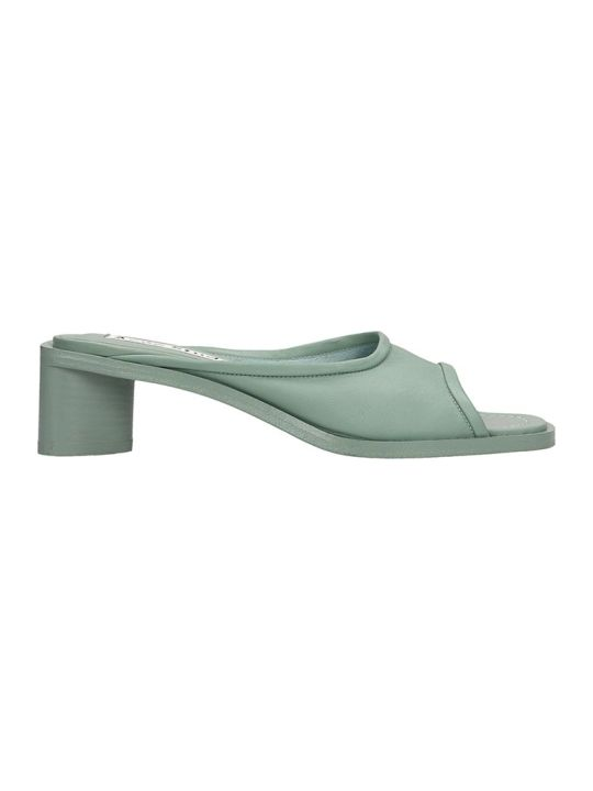 Acne Studios Bessy Sandals In Green Leather