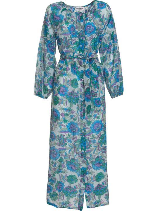 Essentiel Antwerp Floral Print Cotton-silk Shirt Dress In Multicolor