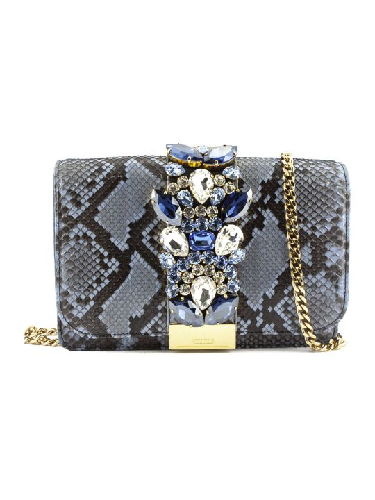 Gedebe Cliky Python Azure Jungle Clutch