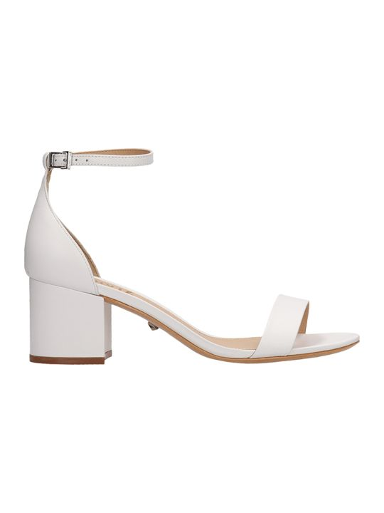 Schutz White Leather Sandals