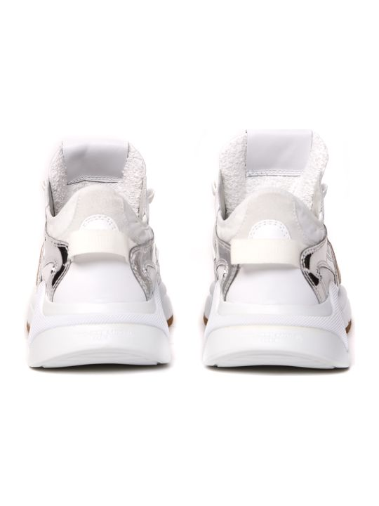 Philippe Model Ezel White & Silver Lether Sneakers