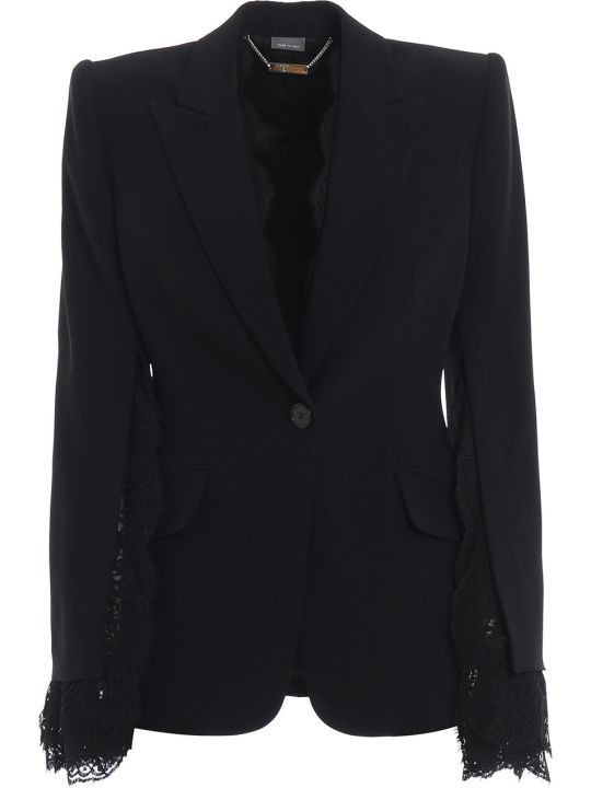 Alexander McQueen Lace Insert Jacket